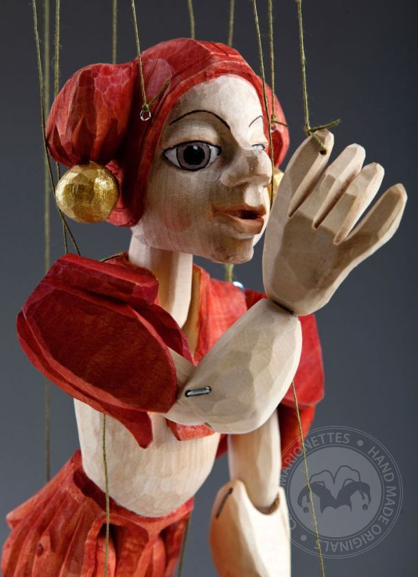 foto: Jester Hand Carved Marionette (M Size)