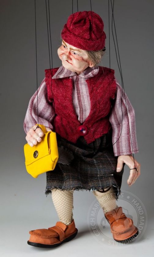 foto: Fanny Old Lady Marionette Puppet
