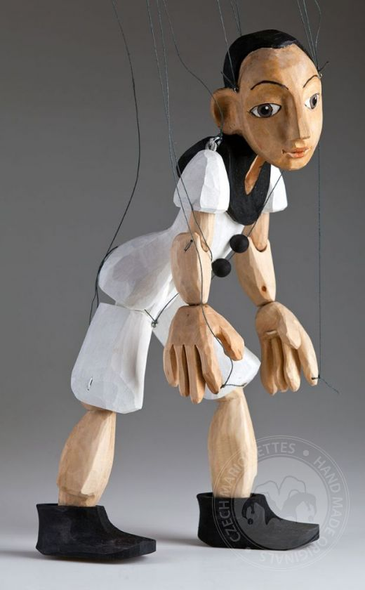 foto: Pierrot Hand Carved Czech Marionette