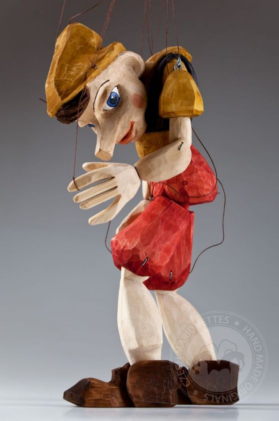 foto: Pinocchio Hand Carved Marionette Puppet L Size