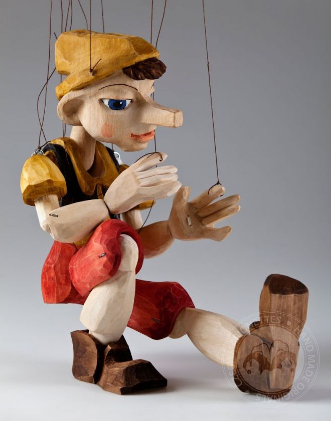foto: Pinocchio Hand Carved Marionette M size