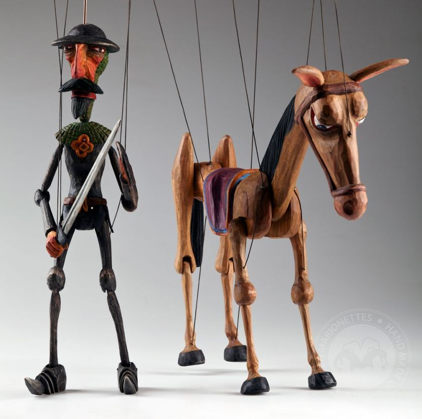 foto: Don Quichotte and Rocinante Horse