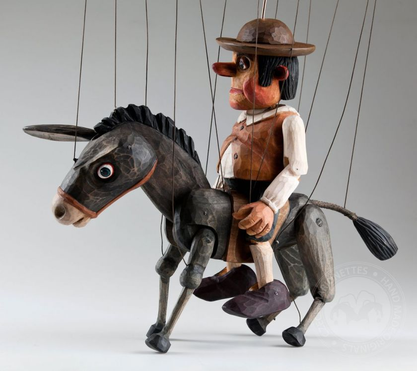 foto: Sancho Panza and his Dapple Donkey Czech Marionette