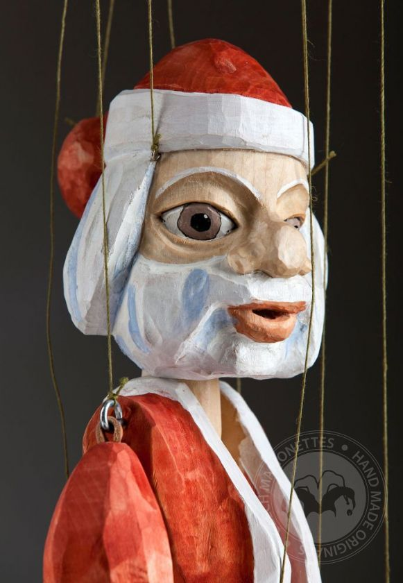 foto: Santa Clause Hand Carved Marionette Puppet L Size