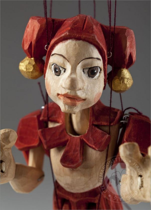foto: Jester Hand Carved Marionette (S Size)