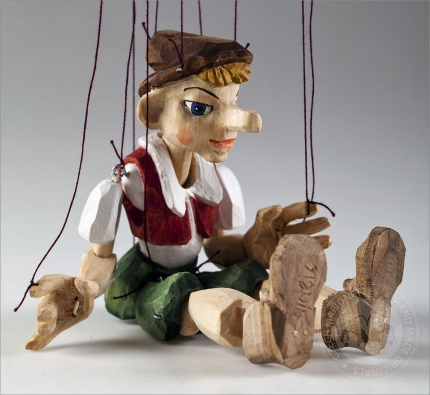 foto: Pinocchio Hand Carved Marionette S Size