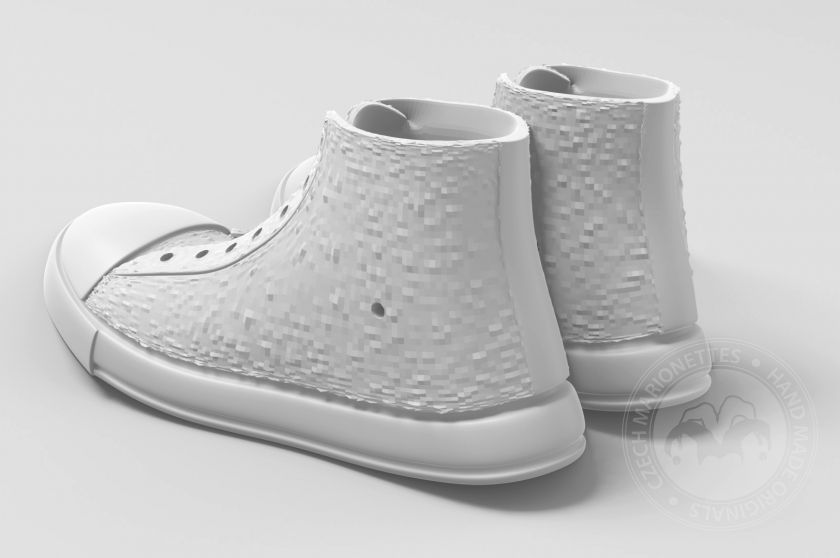 Shoes Converse High for 3D print 120x50x40 mm