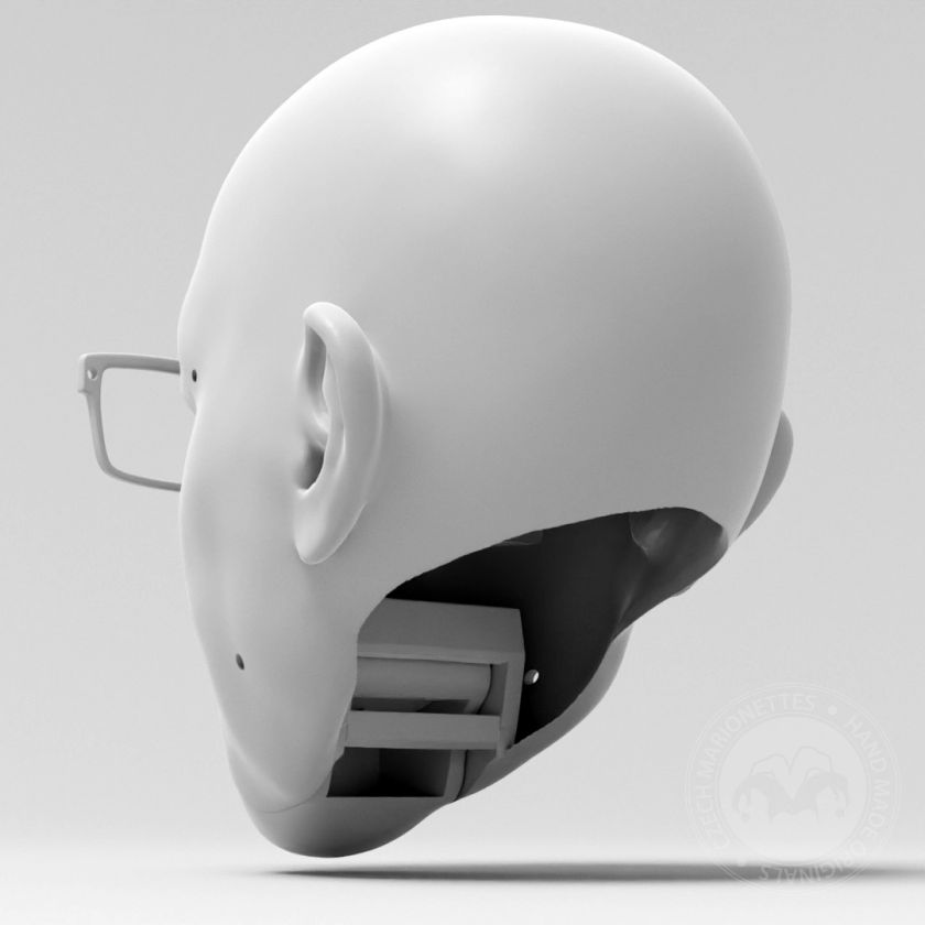 Men with eyeglasses - 3D Model for 3D print