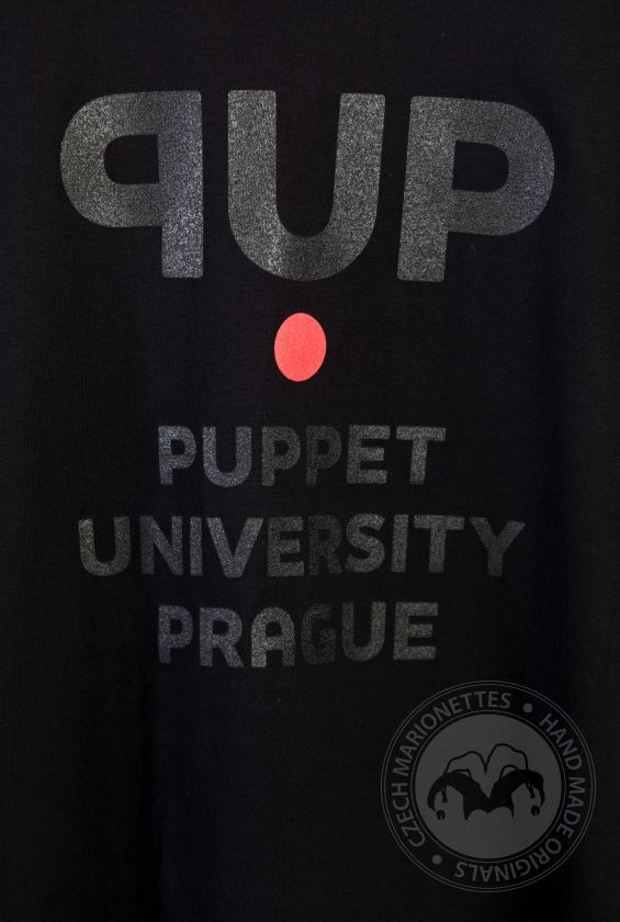 PUP T-shirt (Puppet University Prague) for marionette lovers