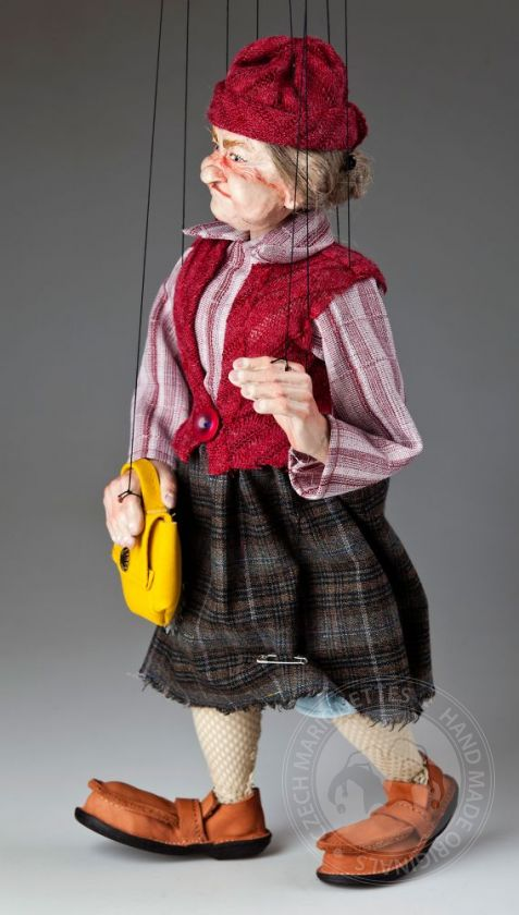 Fanny Old Lady Marionette Puppet