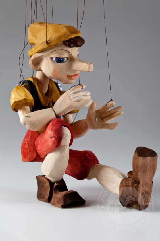 Pinocchio Hand Carved Marionette Puppet L Size