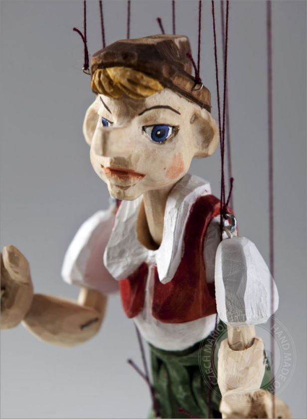 Pinocchio Hand Carved Marionette Puppet S Size