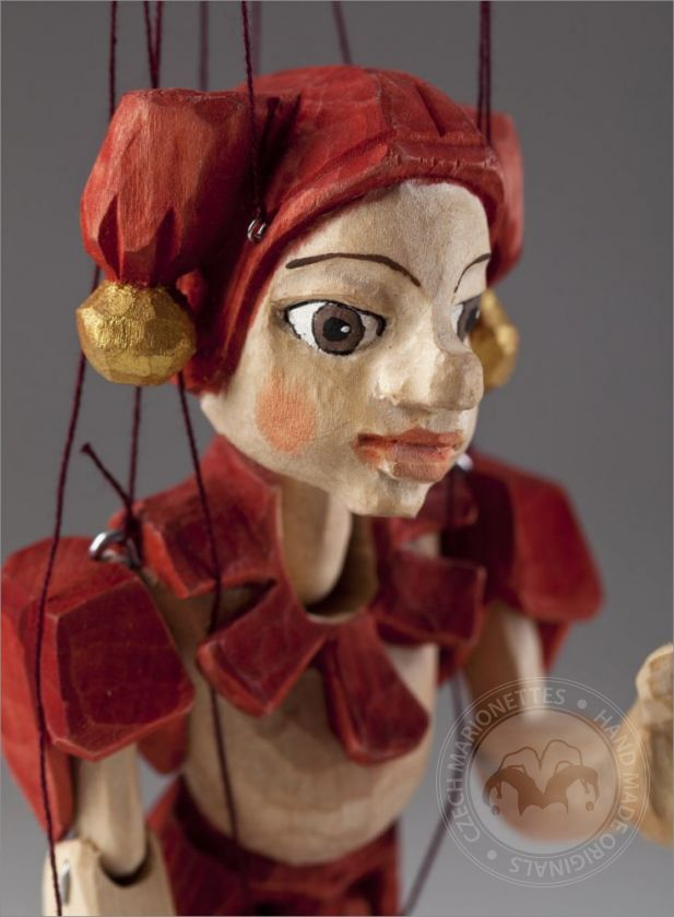 Jester Hand Carved Marionette Puppet S Size