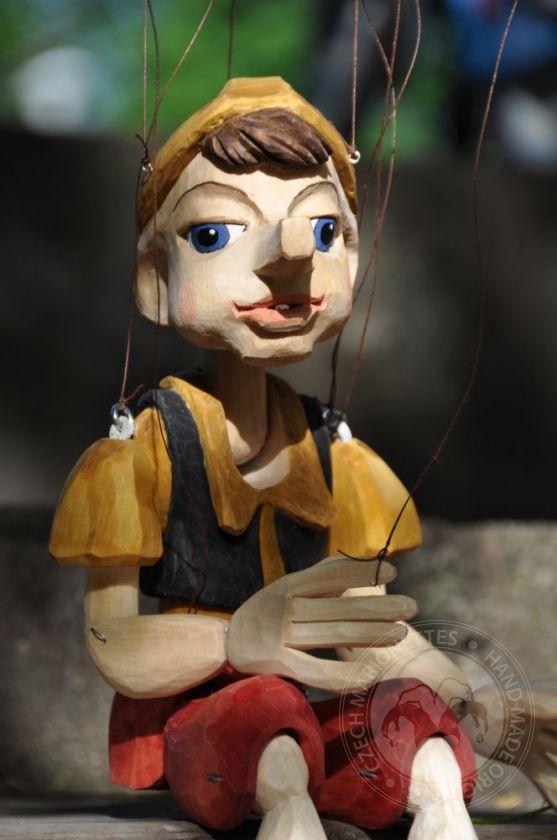 Pinocchio marionette original linocut