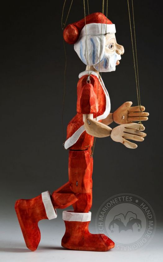 Santa Clause Hand Carved Marionette Puppet L Size