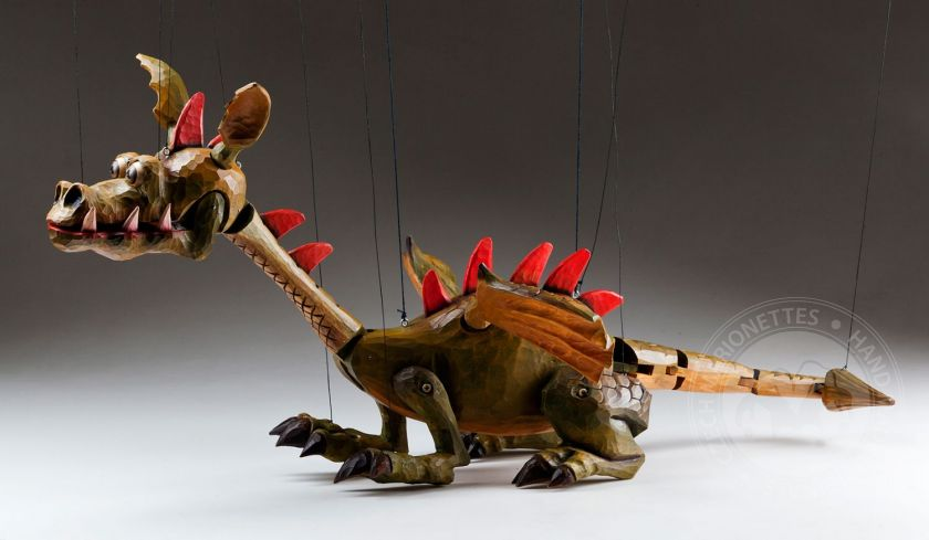 Dragon Spike – Handcarved Marionette