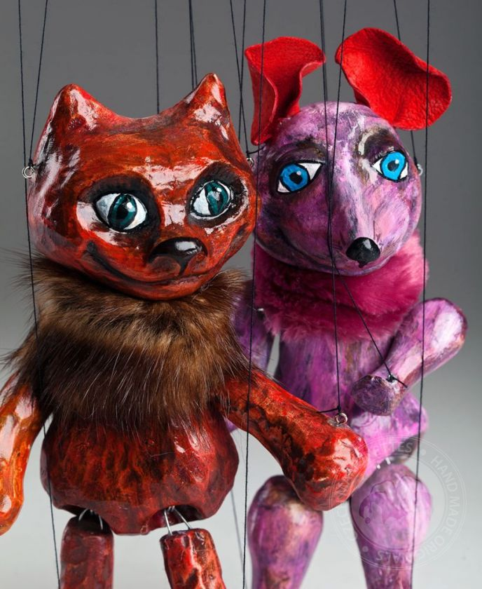 Cat and Mouse Czech Marionettes