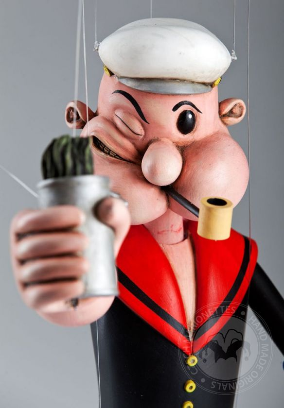 foto: SOLD - Popeye the Sailor Marionette