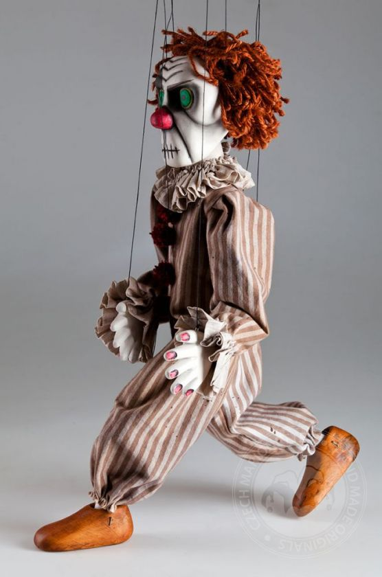 foto: Creepy Clown Handcarved Marionette