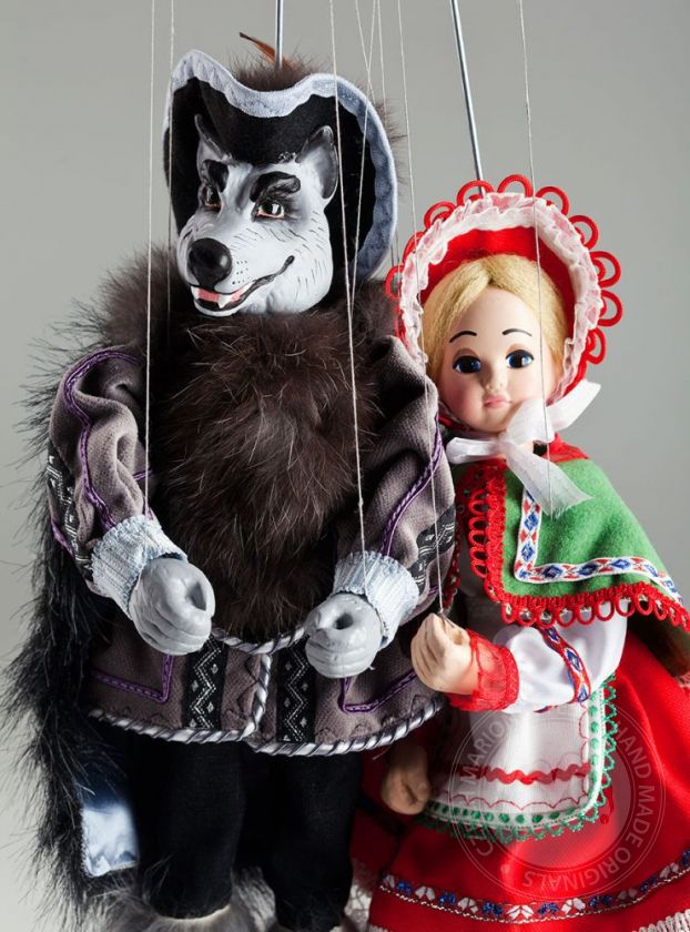 Little red Riding Hood and Wolf Marionettes