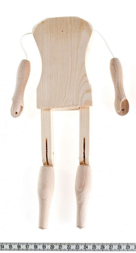 Marionette making: Male body 26 cm