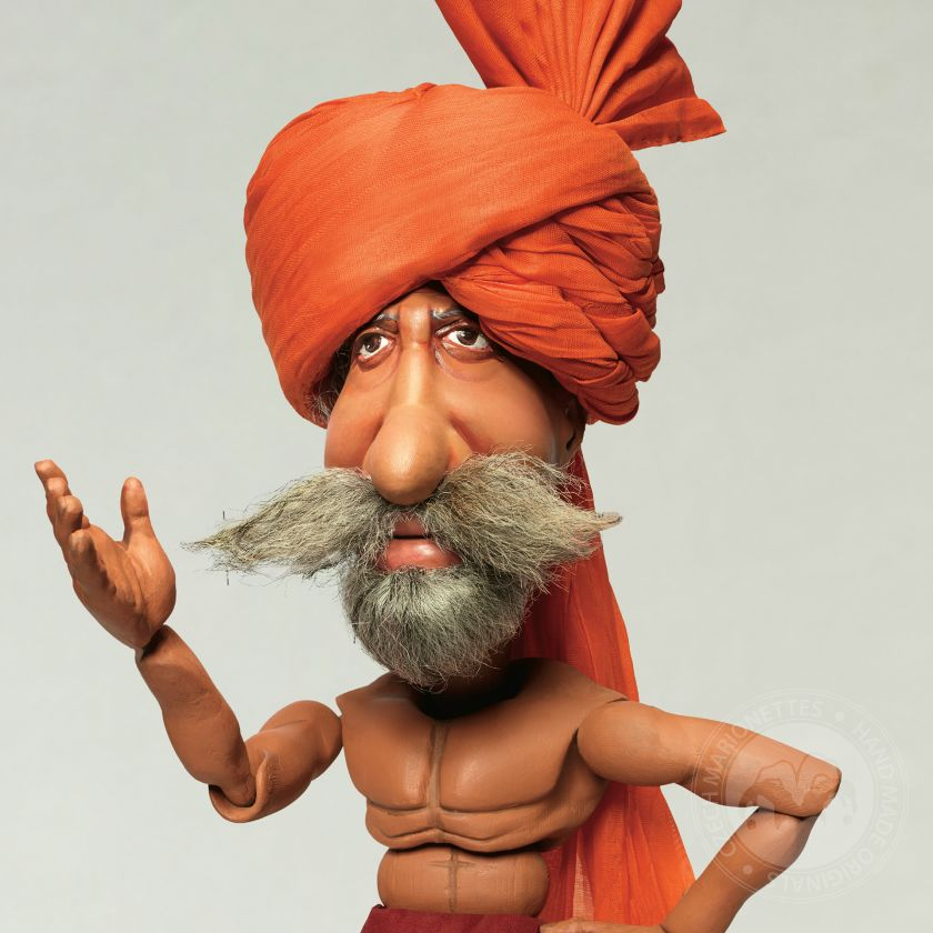 Amitabh Bachchan Marionettes made for Indian advertising