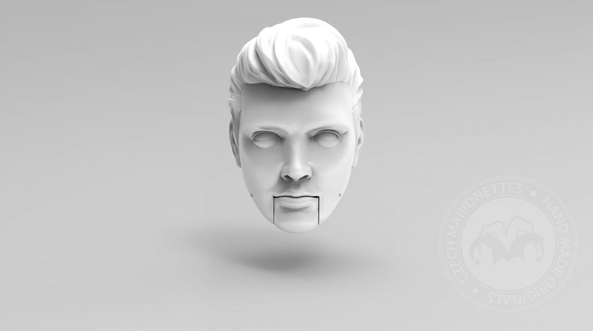 3D Model of Elvis Presley's head for 3D printing