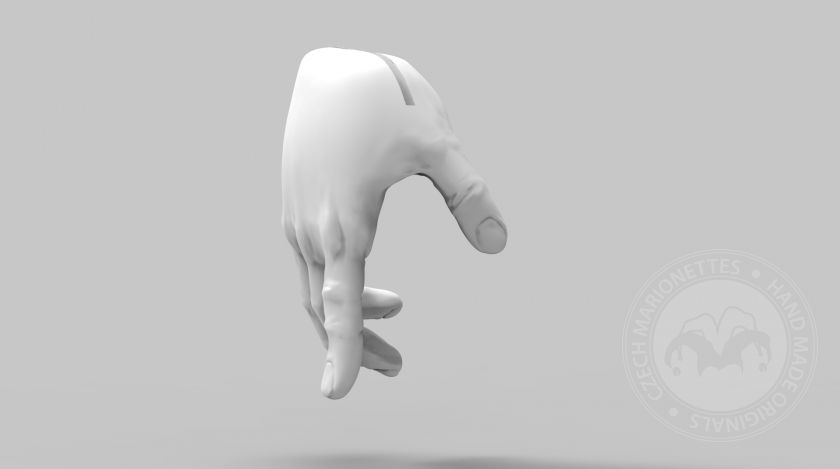 3D Model of pointing hands for 3D print