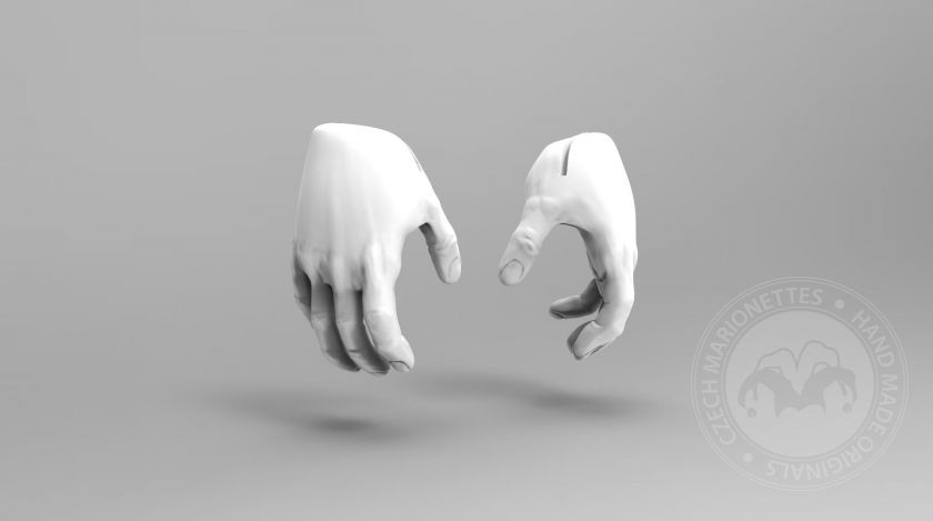 3D Model of gripping hands for 3D print