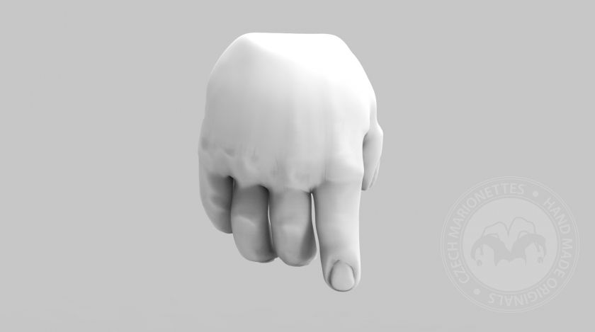 3D Model of fat hands for 3D print