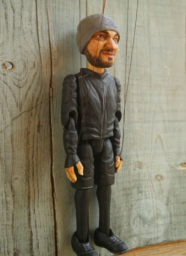 Hand Carved Marionette from a portrait photo