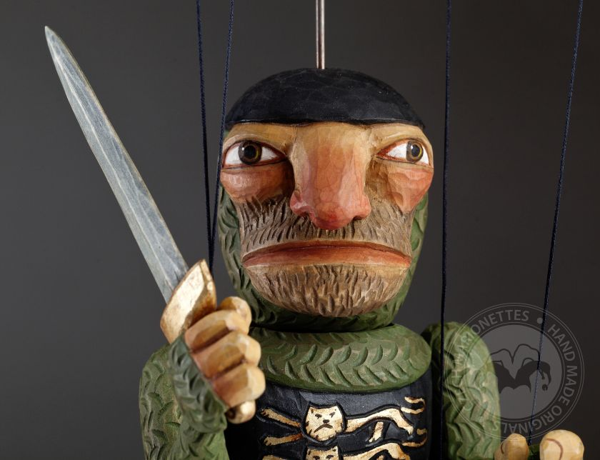 Knight Adrian Wooden Hand Carved Marionette