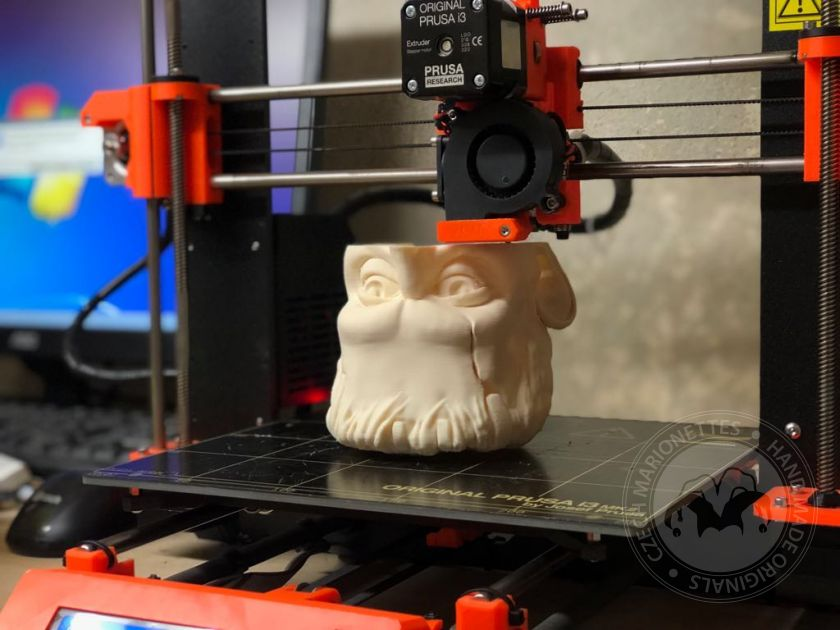foto: 3D print of a head and body 60cm (24inches)