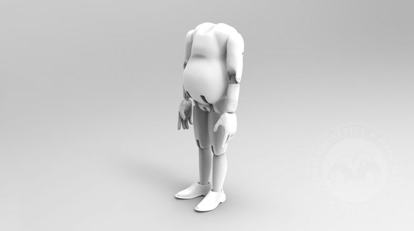 3D Model of fat man's body for 3D print
