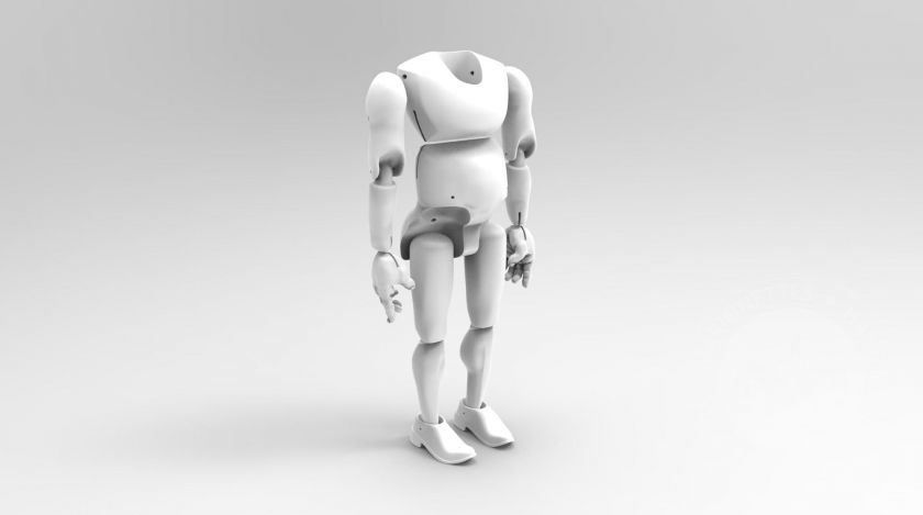 3D Model of a chunky man for 3D print