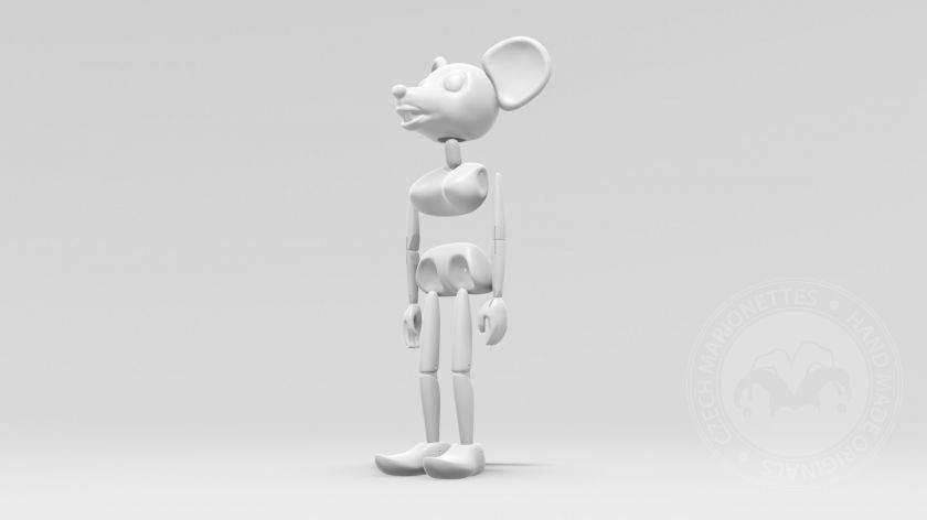 Dancing mouse puppet in 3D model