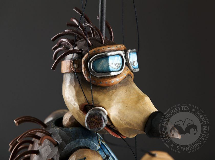 Scooter Hedgehog – awesome marionette belonging in Zoo Sapiens collection