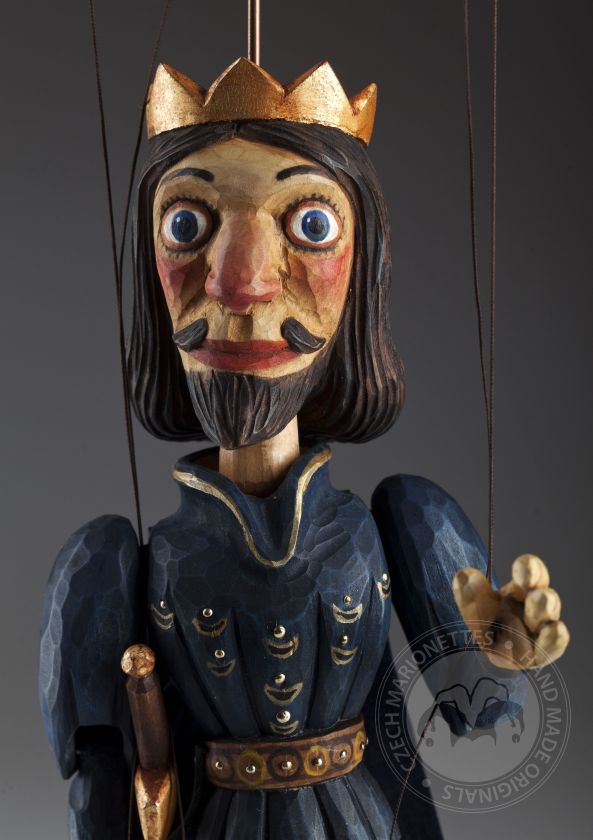 Prince - a string puppet carved in the traditional marionette way