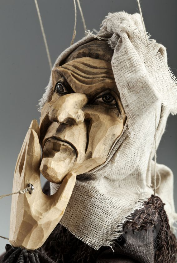 Witch handcarved from linden wood