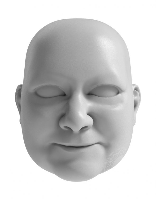 3D Model of grandma's head for 3D print