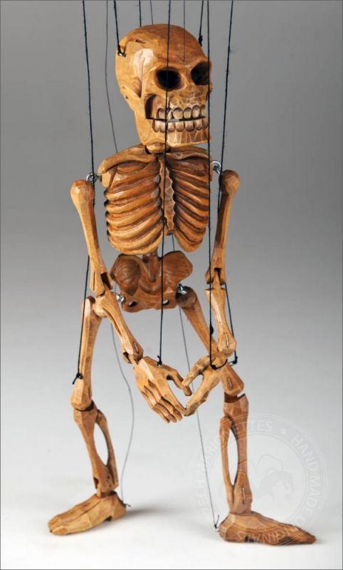 Smiling Skeleton Marionette Czech Marionettes