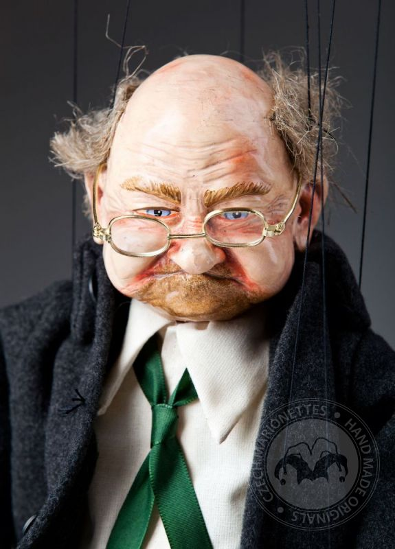 old man joe marionette puppet czech marionettes