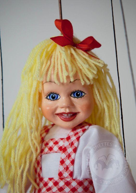 Little Girl Puppet Czech Marionettes