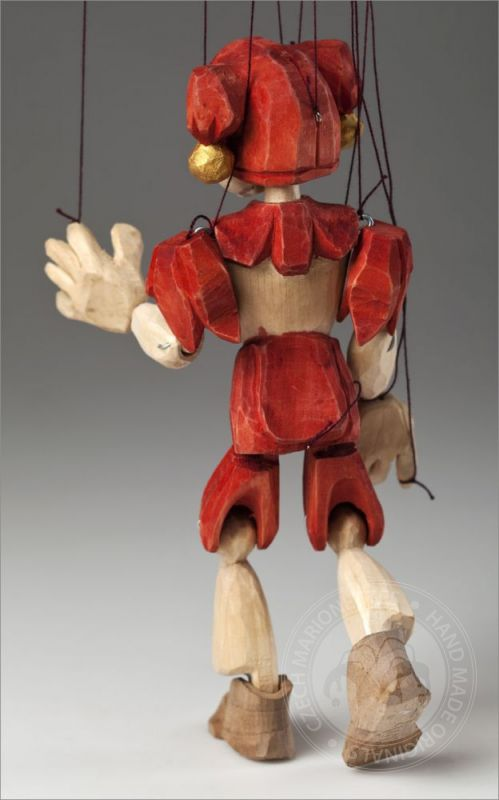 Jester Hand Carved Marionette S Size Czech Marionettes