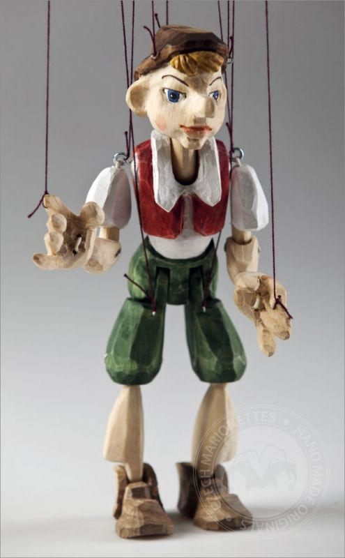 Pinocchio Hand Carved Marionette S Size