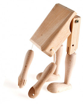 foto: Marionette making: Body, hands, legs 21 cm