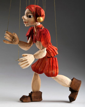 foto: Jester Hand Carved Marionette Puppet M Size
