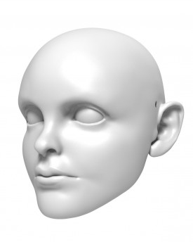 13y old boy - head model for 3D printing