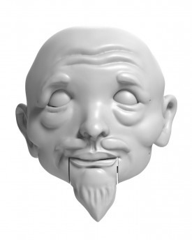Japanese Samurai - head model for 3D printing