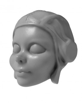 3D Model of young pilot head for 3D printing 100 mm